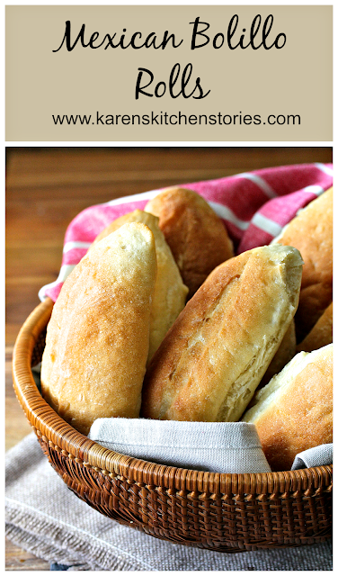 Bolillo rolls are the Mexican version of French rolls. They are crispy on the outside and super soft on the inside.