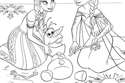 Gambar Mewarnai Anak Anak Frozen