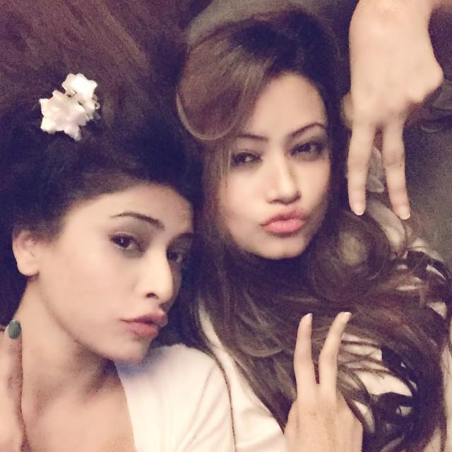 sistasssss on 😈 mode 🌾🌾 thankyou for surprise visit barbie sis 💋, Rina Charaniya Selfie Photo gallery 2015