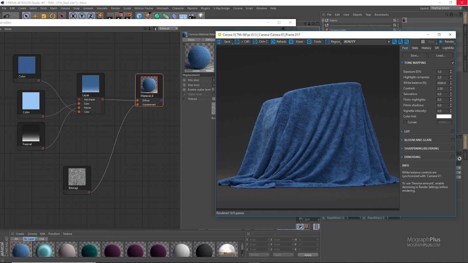 Creating Hyper Realistic fabric Materials in Corona for