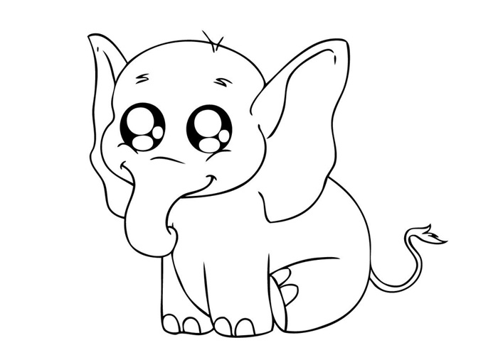 cute baby elephants coloring pages   transmissionpress: Baby Elephant Coloring Pages