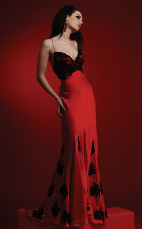 D Shade Z Romantic Red Gowns