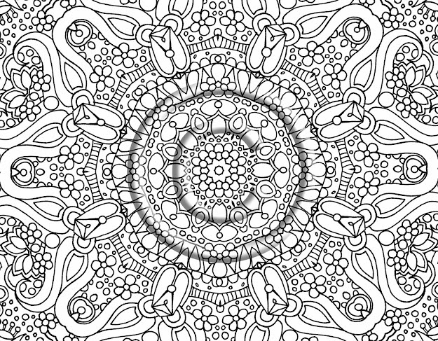 Abstract Coloring Pages Adults On Coloring Pages For Adults Abstract Flowers