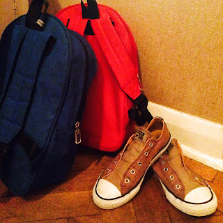 shoes and backpacks
