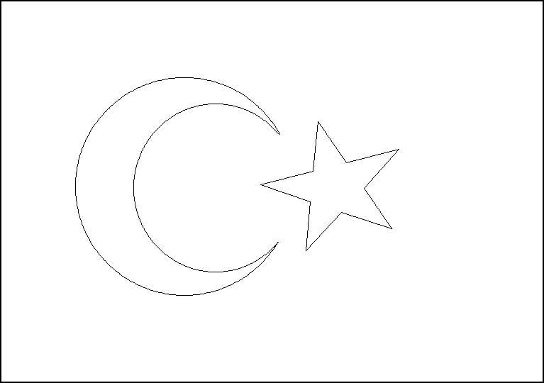 Türk Bayrağı Boyama Kağıdı çalışması Türk Bayrakları