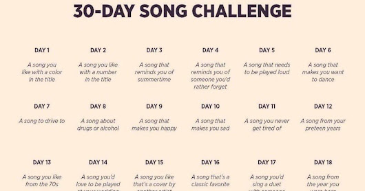 Thank you for the music - the 30 song challenge