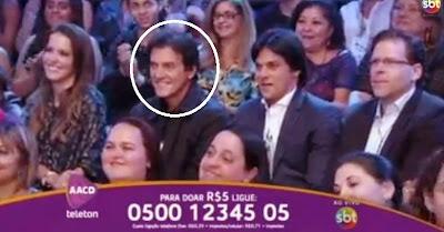 Ontem no programa Teleton realizado no Sbt, o apresentador Silvio Santos  acompanhado do neto Tiago e da filha Patrícia Abravanel conseguiram  ultrapassar a ... 2205dc4341