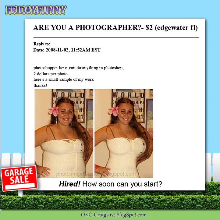 FUNNY CRAIGSLIST ADS: Mad Photoshop Skillz | Craigslist ...