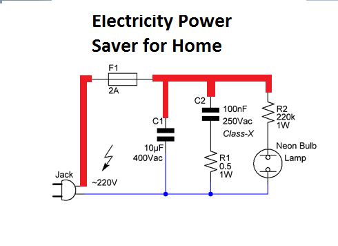 Electricity Power Saver for Home Application - Electronic Circuit