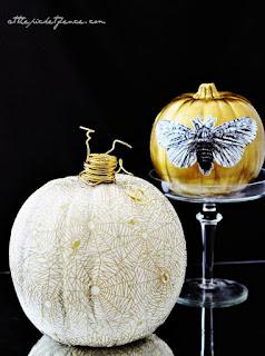 20 Idee Per Decorare Le Zucche Di Halloween Fai-da-te: decoupage