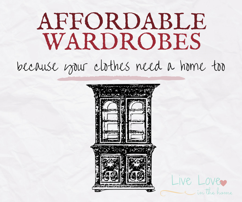 Affordable Wardrobes and Closet Storage Options | Live Love in the Home
