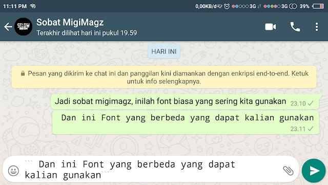 Cara Membuat Tulisan Tebal, berwarna, dan Variasi Unik Lainnya di Whatsap