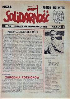 Biuletyn Informacyjny Solidarność Region Białystok 1981