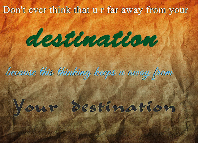 away from your destination