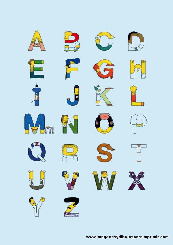 abecedarios de los simpsoms