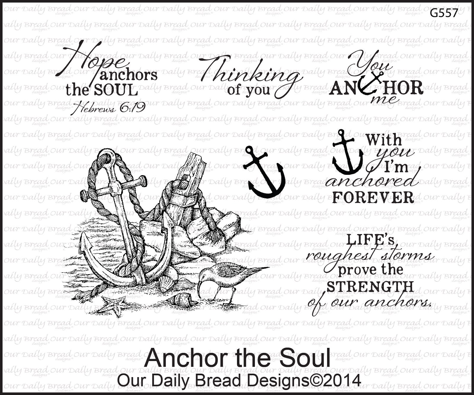Stamps - Our Daily Bread Designs Anchor the Soul