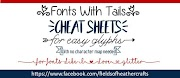 Fonts With Tails (Glyphs) Cheat Sheet