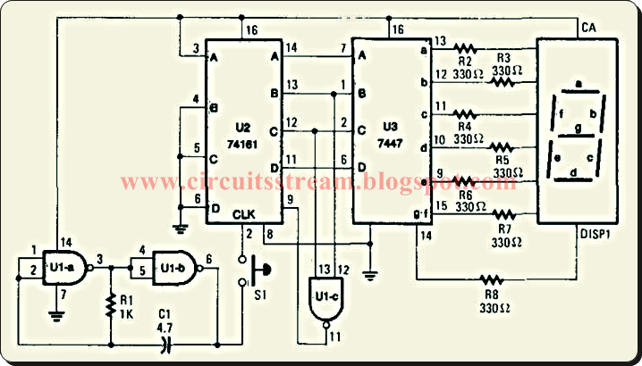 electronic dice circuit wiring diagrams electronic circuit schematic diagrams