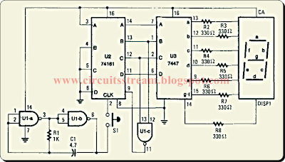 Tica Tak Electronic Dice Circuit Diagram