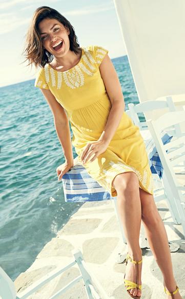 Boden Selena Dress Dress Yellow White Embroidery Dress Trendy in Texas Blog