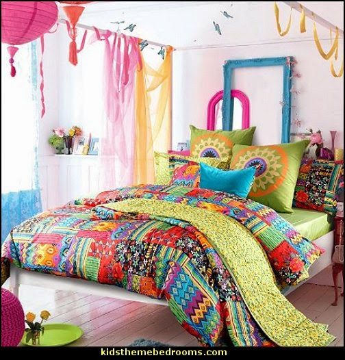 Colorful Bedroom: Modern House Plans: Boho Style Decorating