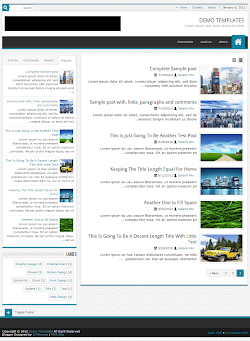 JPStation Blue RTL Blogger Template