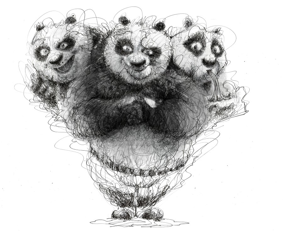 22-Kung-Fu-Panda-Jack Black-Erick-Centeno-Superheroes-Celebrities-and-Cartoons-Scribble-Drawings-www-designstack-co