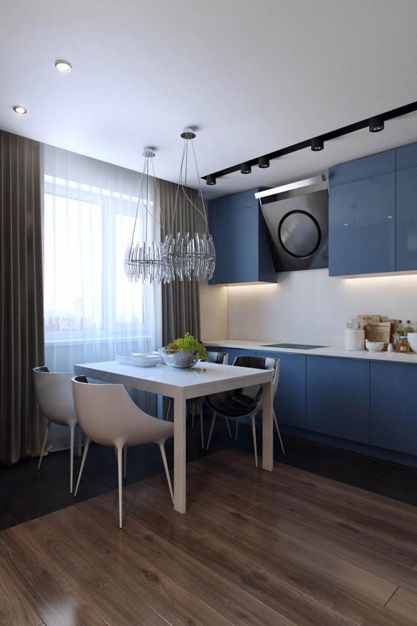 Mẫu thiết kế căn hộ 51m2 đẹp phong cách hiện đại - H3