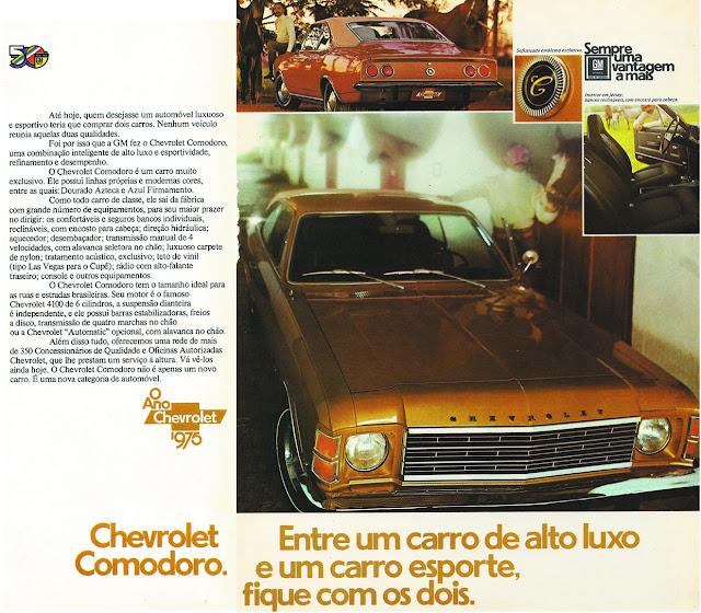 Propaganda antiga da Chevrolet para promover o Comodoro na metade dos anos 70