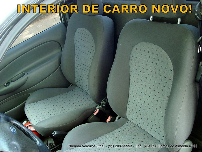Ford Courier 2008 1.6 Flex - interior bancos