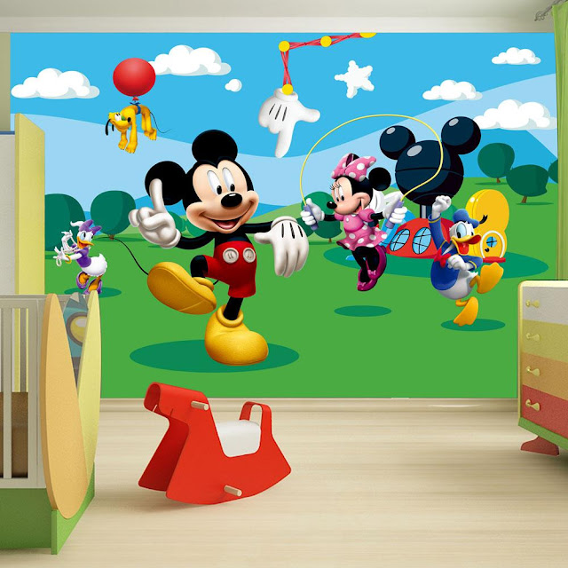 Mickey Mouse Wall Mural Disney Children Room