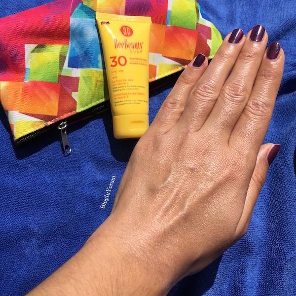 Bee Beauty Sun SPF30 yüz ve dekolte için matlaştırıcı güneş kremi 3