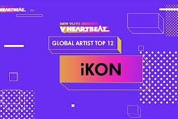 "iKON Won Global Artist TOP 12 at 2019 Vlive Awards ""V Heartbeat"""