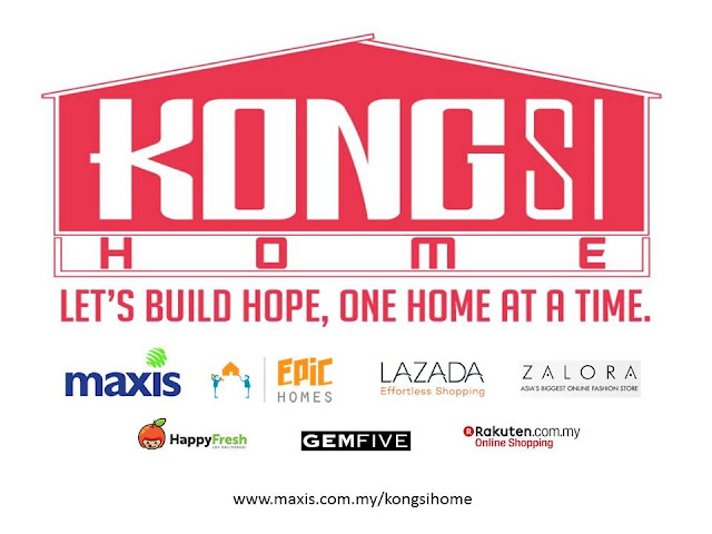 Kongsi-Home Project partner members - Maxis, Epic Homes, Lazada, Zalora, HappyFresh, GEMFive, Rakuten