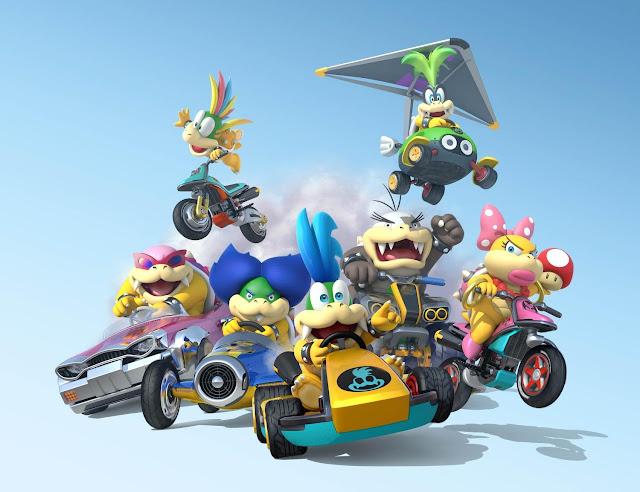 Koopalings Mario Kart 8 karts cars bikes Lemmy Roy Ludwig Larry Morton Iggy Wendy