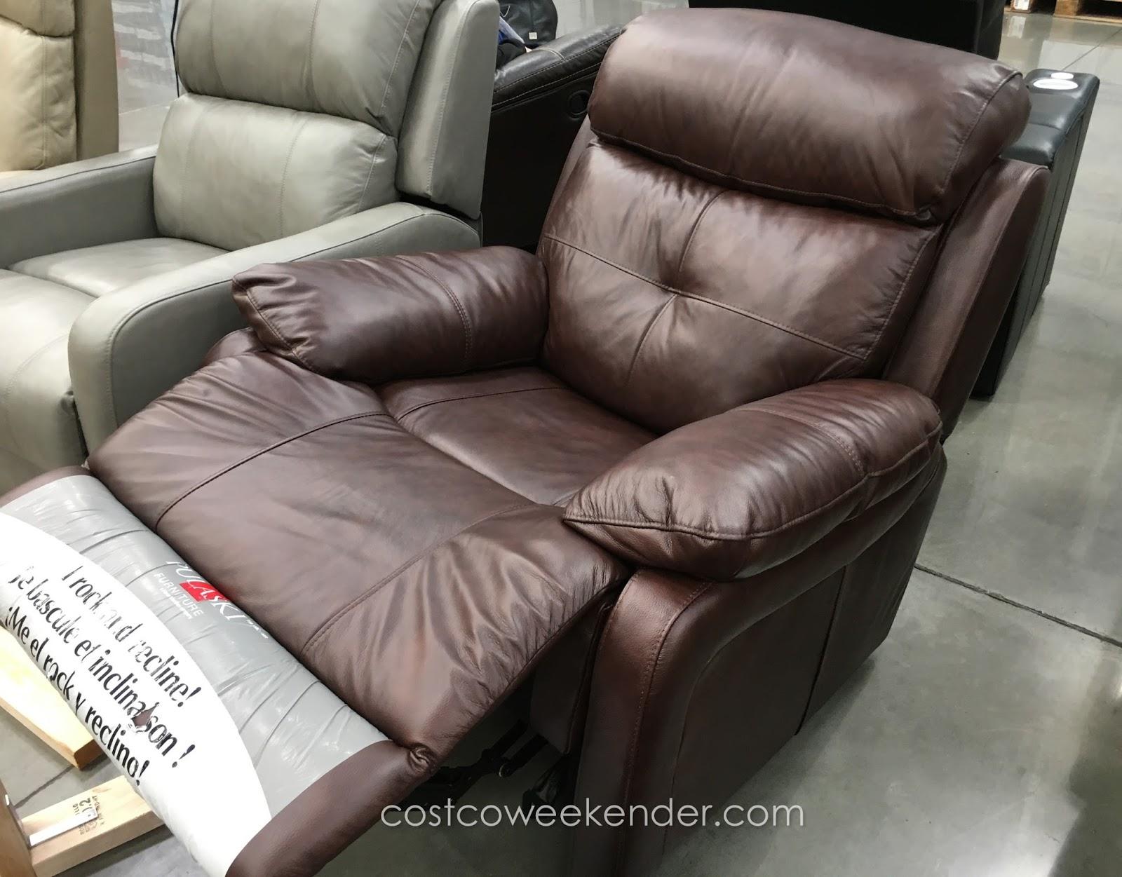 Pulaski Leather Rocker Recliner Chair Costco Weekender