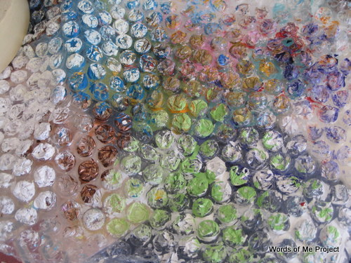 bubble wrap and paint words of me project art journaling ideas