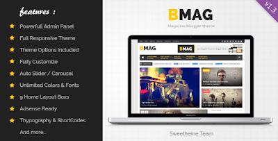 BMAG est un  modèle Blogger Responsive Magazine