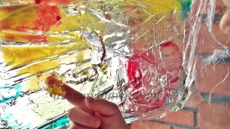 żelowy witraż - praca plastyczna