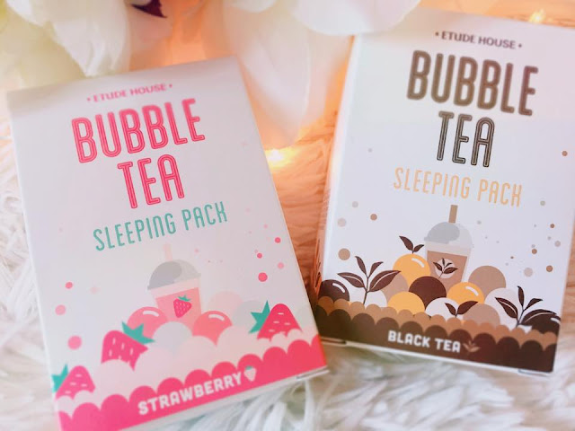(K-Beauty) Les Bubble tea sleeping mask d'Etude House : Des masques de nuit gourmands façon bubble tea !