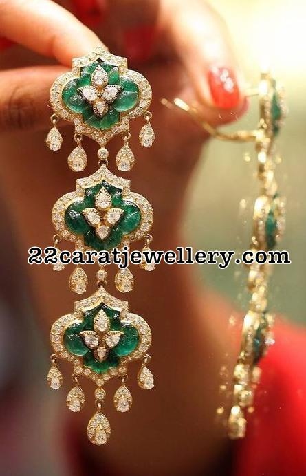 Diamond Emerald Floral Hangings