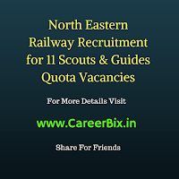 North Eastern Railway Recruitment for 11 Scouts & Guides Quota Vacancies