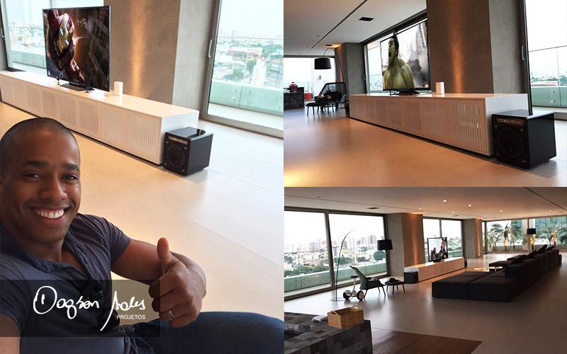 Dagson Sales assina surpreendente projeto de home theater, automação e multiroom para luxuoso apartamento em Uberlandia / MG | Dagson Sales Projetos