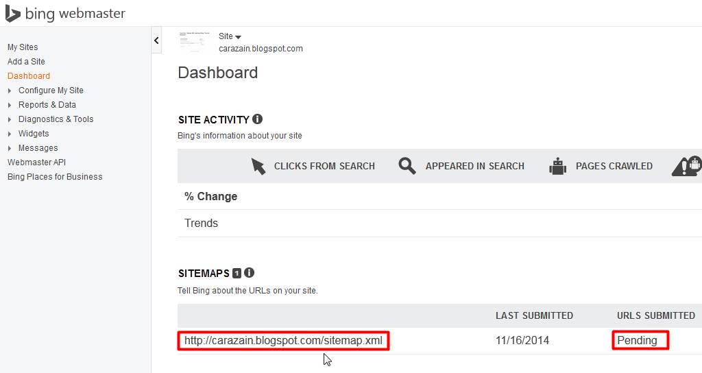Cara Mendaftarkan Blog Ke Yahoo dan Bing
