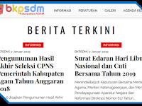 Pengumuman Hasil Akhir CPNS 2018 Kabupaten Agam