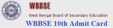 WBBSE Madhyamik Admit Card 2017 WBBSE 10th Roll Number 2017 Download at wbbse.org