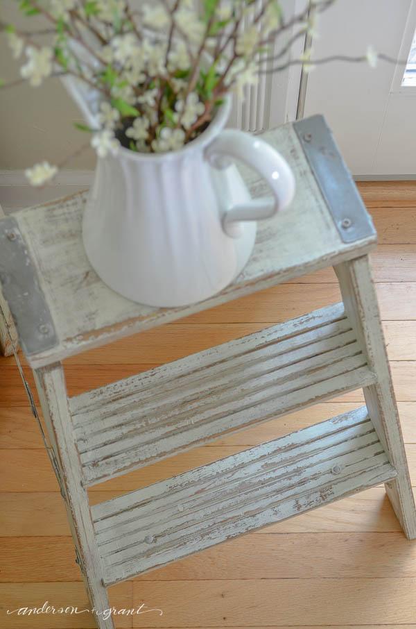 Vintage Ladder in the kitchen