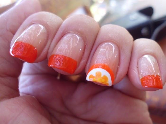 Paso a paso manicura francesa naranja