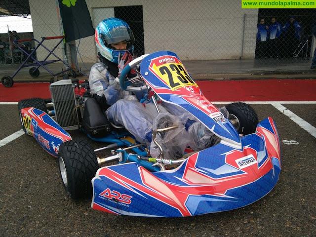 La lluvia complica la primera carrera del Campeonato Nacional de Rotax