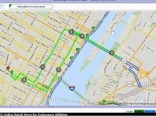 Running map NYC: Queensboro bridge, Herald Square